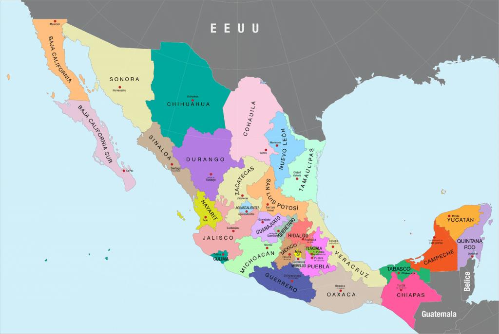 Estados de México y sus capitales