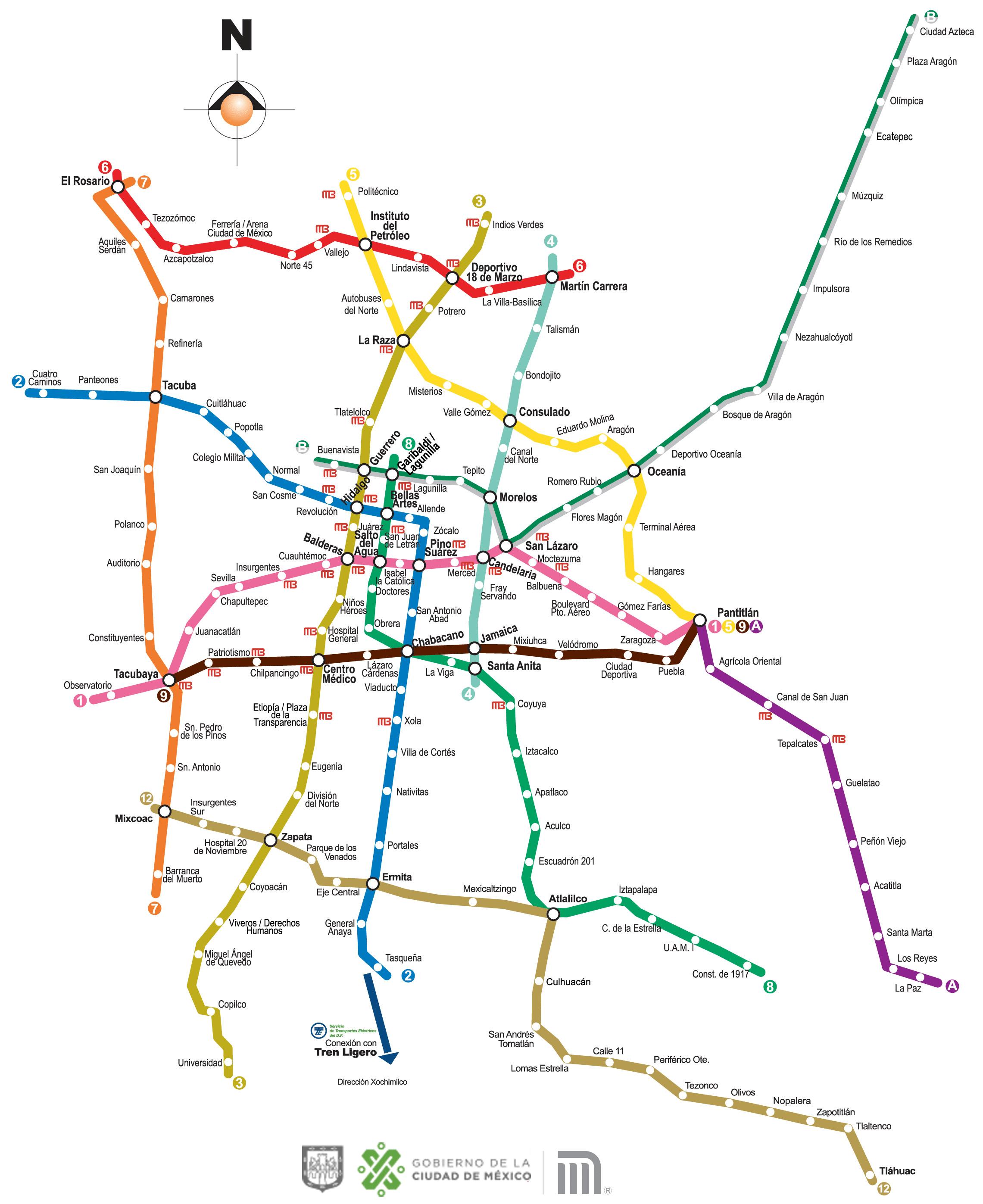 Mapa del Metro CDMX